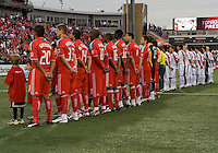 18 July 2009: Opening ceremonies of the International friendly between Toronto FC and Argentina's River Plate at BMO Field..The game ended in a 0-0 tie and River Plate  won 4-3 in penalty kicks..