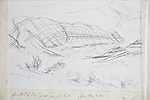 Painted Hills, Oregon, pencil on paper, Journal Art 2009,