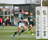 Ealing's Miles Mantella scores another try during the Greene King IPA Championship match between Ealing Trailfinders and Nottingham Rugby at Castle Bar , West Ealing , England  on 18 March 2017. Photo by Carlton Myrie/PRiME Media Images.