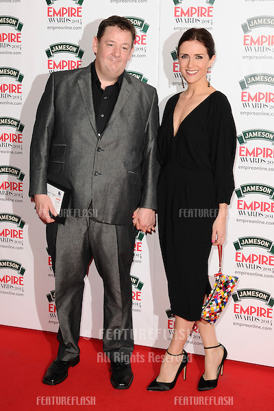 Johnny Vegas<br /> arives for the Empire Magazine Film Awards 2014 at the Grosvenor House Hotel, London. 30/03/2014 Picture by: Steve Vas / Featureflash