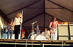 Led Zeppelin 1969 John Paul Jones, Robert Plant, John Bonham and Jimmy Page at Bath Festival.© Chris Walter.