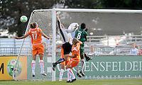 Jenni Branam misses a cross..Sky Blue FC defeated Saint Louis Athletica 1-0 at Anheuser-Busch Soccer Park, Fenton, MO.