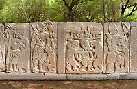 Pictures & images of the North Gate Hittite sculpture stele depicting Hittite Gods. 8th century BC. Karatepe Aslantas Open-Air Museum (Karatepe-Aslantaş Açık Hava Müzesi), Osmaniye Province, Turkey.