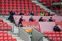 29th August 2020; AJ Bell Stadium, Salford, Lancashire, England; English Premiership Rugby, Sale Sharks versus Bristol Bears; The Sale Sharks management watch the game from the stands