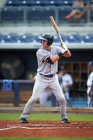 Tampa Yankees designated hitter Austin Aune (34) at bat during the first game of a doubleheader against the Charlotte Stone Crabs on July 18, 2017 at Charlotte Sports Park in Port Charlotte, Florida.  Charlotte defeated Tampa 7-0 in a game that was originally started on June 29th but called to inclement weather.  (Mike Janes/Four Seam Images)