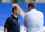 St Johnstone v East Fife…14.07.18…  McDiarmid Park    League Cup<br />Saints Assistant Manager Alec Cleland talks with manager Tommy Wright<br />Picture by Graeme Hart. <br />Copyright Perthshire Picture Agency<br />Tel: 01738 623350  Mobile: 07990 594431