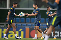 11th November 2020; Granja Comary, Teresopolis, Rio de Janeiro, Brazil; Qatar 2022 qualifiers; Thiago Silva and Marquinhos of Brazil during training session in Granja Comary