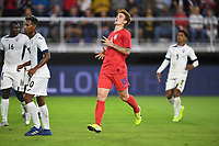 WASHINGTON, D.C. - OCTOBER 11: Josh Sargent #19 of the United States moves to the ball during their Nations League game versus Cuba at Audi Field, on October 11, 2019 in Washington D.C.