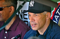 16 June 2012: New York Yankees Manager Joe Girardi chats with the media prior to a game against the Washington Nationals at Nationals Park in Washington, DC. The Yankees defeated the Nationals in 14 innings by a score of 5-3, taking the second game of their 3-game series. Mandatory Credit: Ed Wolfstein Photo