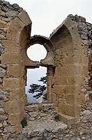 Nordzypern, Festung St. Hilarion, Fenster der Königin