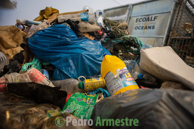Plastic sorting plant for reuse in the production of different products, November 5, 2015 in Náquera, near Valencia. Ecoalf processes in this plant in the waste plastic extracted from sea for transform them into clothing. © Pedro ARMESTRE