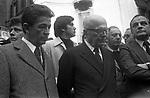 ENRICO BERLINGUER CON SANDRO PERTINI FUNERALE DI LUCHINO VISCONTI ROMA 1976
