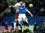 St Johnstone v Motherwell…..12.02.20   McDiarmid Park   SPFL<br />David Wotherspoon and Declan Gallagher<br />Picture by Graeme Hart.<br />Copyright Perthshire Picture Agency<br />Tel: 01738 623350  Mobile: 07990 594431
