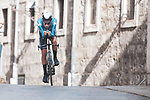 Movistar Team in action during Stage 1 of La Vuelta d'Espana 2021, a 7.1km individual time trial around Burgos, Spain. 14th August 2021. <br /> Picture: Unipublic/Charly Lopez | Cyclefile<br /> <br /> All photos usage must carry mandatory copyright credit (© Cyclefile | Unipublic/Charly Lopez)