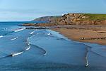 Great Britain, England, Cornwall, Bude: View over Summerleaze Beach | Grossbritannien, England, Cornwall, Bude: Summerleaze Beach