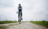 Last years nr 6 finisher Jens Keukeleire on his last recon of the 114th Paris - Roubaix 2016<br /> Riding his new Scott Solace.