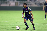 CARY, NC - AUGUST 01: Pecka #7 plays the ball during a game between Birmingham Legion FC and North Carolina FC at Sahlen's Stadium at WakeMed Soccer Park on August 01, 2020 in Cary, North Carolina.