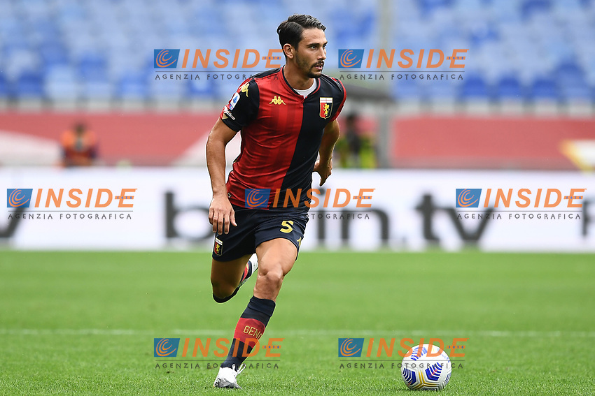 Edoardo Goldaniga <br /> Serie A football match between Genoa CFC and FC Crotone at Marassi Stadium in Genova (Italy), September 20th, 2020. Photo Image Sport / Insidefoto