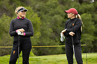 STANFORD, CA - APRIL 25: Amanda Linner, Amelia Garvey at Stanford Golf Course on April 25, 2021 in Stanford, California.