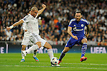 Real Madrid´s Pepe and FC Shalke 04´s  during 2014-15 Champions League match between Real Madrid and FC Shalke 04 at Santiago Bernabeu stadium in Madrid, Spain. March 10, 2015. (ALTERPHOTOS/Luis Fernandez)