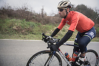 Vincenzo Nibali (ITA/Bahrein-Merida) is a standout rider in this 11th Strade Bianche 2017