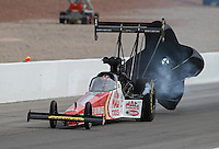 Apr. 6, 2013; Las Vegas, NV, USA: NHRA top fuel dragster driver Doug Kalitta during qualifying for the Summitracing.com Nationals at the Strip at Las Vegas Motor Speedway. Mandatory Credit: Mark J. Rebilas-