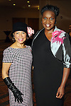 Merele Yarborough and Wanda Adams at the Sisters Network's 2013 Pink Angel Celebration Luncheon & Style Show Sunday Oct. 13,2013.(Dave Rossman photo)