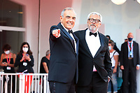 VENICE, ITALY - SEPTEMBER 11: La Biennale Di Venezia President Roberto Cicutto and Director of the festival Alberto Barbera attend the closing ceremony red carpet during the 78th Venice International Film Festival on September 11, 2021 in Venice, Italy. <br /> CAP/MPI/AF<br /> ©AF/MPI/Capital Pictures