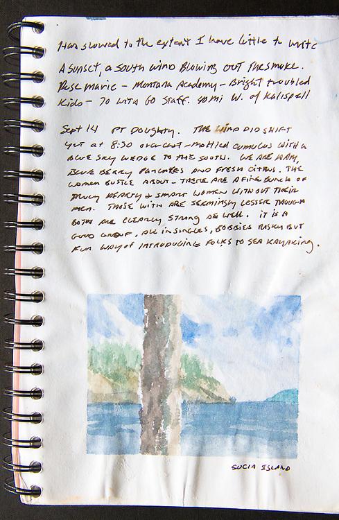 Sucia Island, watercolor, Journal Art 2005, September 14, 2005