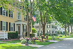 Old Captains' houses on Pleasant Street have been converted to B&B Inns in Kennebunkport, Maine, USA