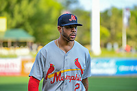 Tommy Pham (27) of the Memphis Redbirds during the game against the Salt Lake Bees in Pacific Coast League action at Smith's Ballpark on May 24, 2016 in Salt Lake City, Utah. The Bees defeated the Redbirds 7-5. (Stephen Smith/Four Seam Images)
