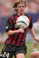 The MetroStars' Eddie Gaven. D. C. United was defeated by the NY/NJ MetroStars 3 to 2 during the MetroStars home opener at Giant's Stadium, East Rutherford, NJ, on April 17, 2004.