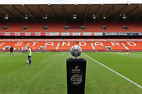 Match ball pictured before a female soccer game between Standard Femina de Liege and KAA Gent Ladies on the second match day of the 2021 - 2022 season of Belgian Scooore Womens Super League , Saturday 28 th of August 2021  in Liege, Belgium . PHOTO SPORTPIX | SEVIL OKTEM