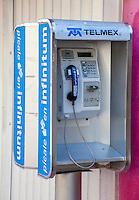 Public Pay Phone Still in Use in 2012, Playa del Carmen, Riviera Maya, Yucatan, Mexico.