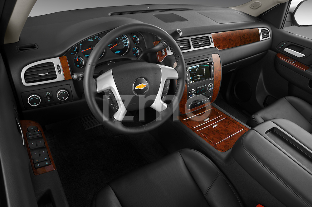 High angle dashboard view of a 2012 Chevrolet Suburban LTZ