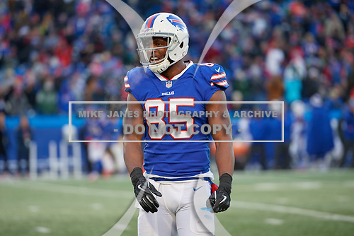 Buffalo Bills Charles Clay (85) during an NFL football game against the New York Jets, Sunday, December 9, 2018, in Orchard Park, N.Y.  (Mike Janes Photography)