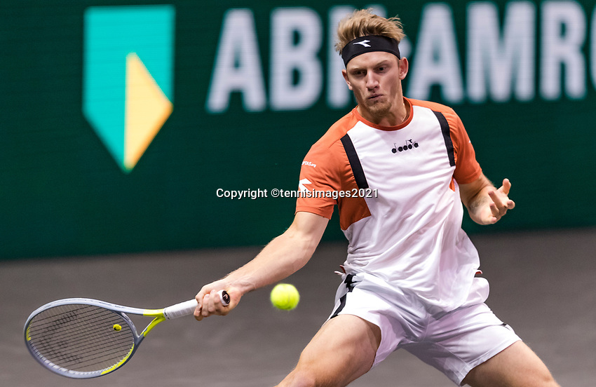 Rotterdam, The Netherlands, 4 march  2021, ABNAMRO World Tennis Tournament, Ahoy, Second round singles: Alejandro Davidovich Fokina (ESP).<br /> Photo: www.tennisimages.com/