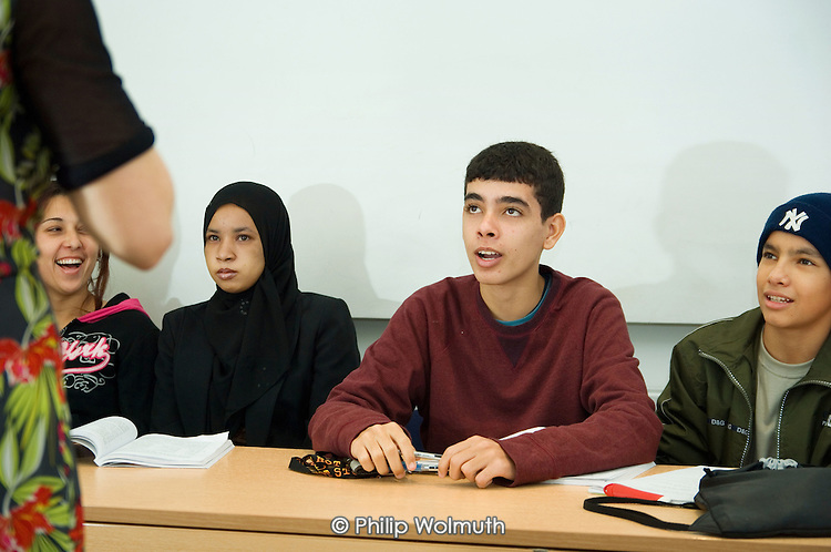 ESOL class run by Real Action at the voluntary organisation's Learning Store in North Paddington London.