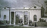 Gloucester Gate, Regents Park, London. Designed by John Nash, 1825-26. Historical print.