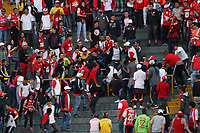 BOGOTA -COLOMBIA, 2-04-2017.Independiente Santafe fans face blows between themselves during match  against Indeendiente Medellin for the date 11 of the Aguila League I 2017 played at Nemesio Camacho El Campin stadium . Photo:VizzorImage / Felipe Caicedo  / Staff
