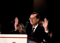 Montreal (QC)CANADA -   March 1991 File Photo  - <br /> <br /> Quebec Premier and<br /> Liberal Provincial Leader Robert Bourassa at the Liberal convention March 9 and 10 1991.