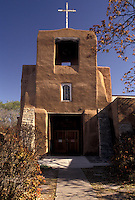 AJ3876, Sante Fe, church, mission, New Mexico, Mission of San Miguel De Santa Fe one of the oldest churches in the United States in Sante Fe in the state of New Mexico.
