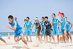 Marcelo Mendes & Japan team group (JPN),<br /> APRIL 20, 2014 - Beach Soccer :<br /> Beach Soccer Japan national team candidates training camp in Okinawa, Japan. (Photo by Wataru Kohayakawa/AFLO)Tadaomi Nakamura, Masayuki Komaki, Shunta Suzuki, Shinji Makino