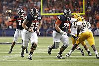 SAN ANTONIO, TX - SEPTEMBER 8, 2012: The Texas A&M University-Commerce Lions versus the University of Texas at San Antonio Roadrunners Football at the Alamodome. (Photo by Jeff Huehn)