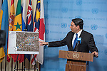 Israel's Permanent Representative to the United Nations AMB Danny Danon speaking to the press at UN SC stakeout, Israel's Permanent Representative to the United Nations AMB Danny Danon speaking to the press at UN SC stakeout,