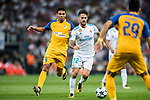 Isco Alarcon (c) of Real Madrid competes for the ball with Igor de Camargo of APOEL FC during the UEFA Champions League 2017-18 match between Real Madrid and APOEL FC at Estadio Santiago Bernabeu on 13 September 2017 in Madrid, Spain. Photo by Diego Gonzalez / Power Sport Images