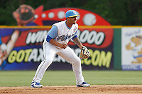 Myrtle Beach Pelicans shortstop Gleyber Torres (11) during a game against the Frederick Keys at Ticketreturn.com Field at Pelicans Ballpark on April 10, 2016 in Myrtle Beach, South Carolina. Myrtle Beach defeated Frederick 7-5. (Robert Gurganus/Four Seam Images)