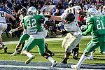North Texas Mean Green linebacker Fred Scott (32) in action during the Zaxby's Heart of Dallas Bowl game between the Army Black Knights and the North Texas Mean Green at the Cotton Bowl Stadium in Dallas, Texas.