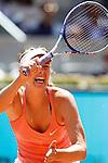 Maria Sharapova during Madrid Open Tennis 2015 match.May, 5, 2015.(ALTERPHOTOS/Acero)
