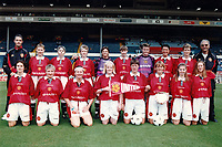 The Manchester United players pose for a team photograph ahead of Manchester United Ladies vs Newcastle United Ladies, Charity Match Football at Wembley Stadium on 11th August 1996